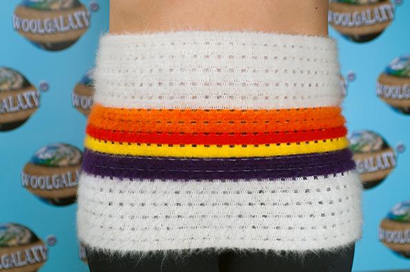 Пояс эластичный перфорированный содержащий шерсть альпака ФАНТАСТИКА